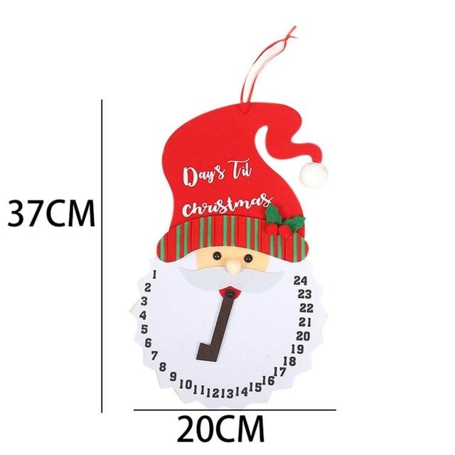 Christmas Calendar Gifts Santa Claus Dolls Elf Hopikas Clock 1