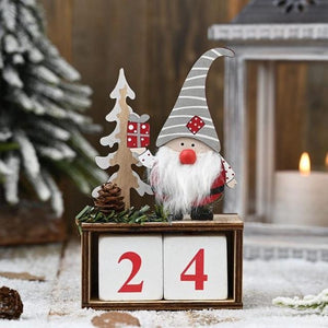 Christmas Calendar Gifts Santa Claus Dolls Elf Hopikas Grey