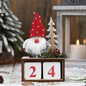 Christmas Calendar Gifts Santa Claus Dolls Elf Hopikas Red