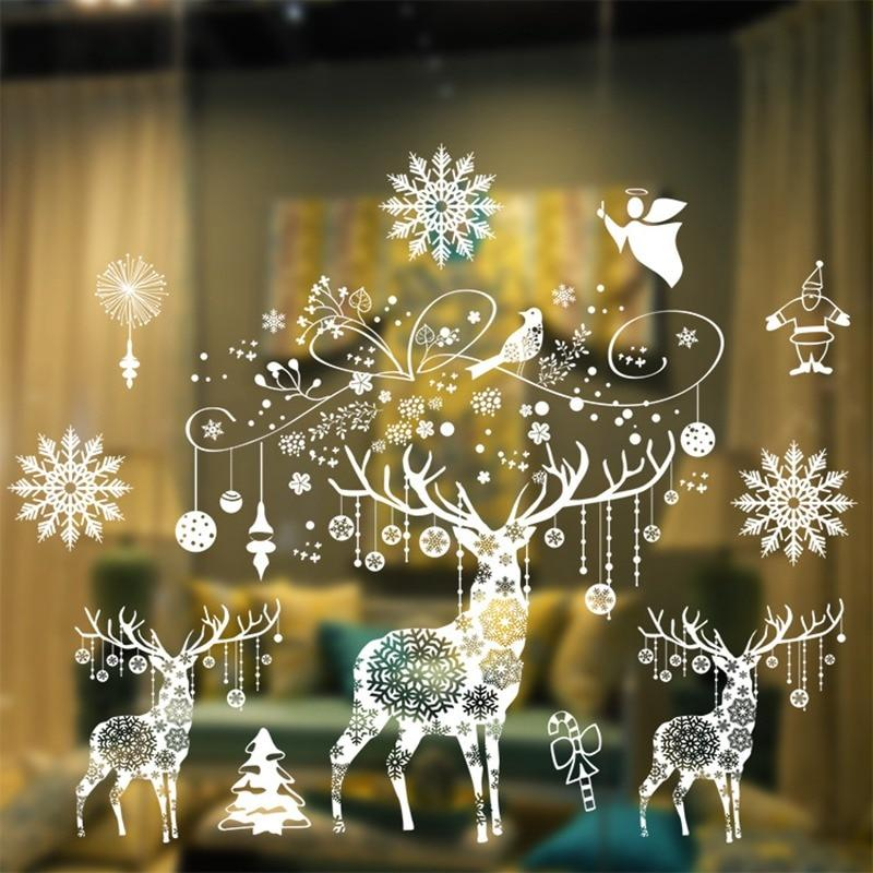 Christmas Window Stickers Christmas Decorations for Home Hopikas