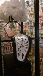 Clock in the style of works by Salvador Dali Hopikas