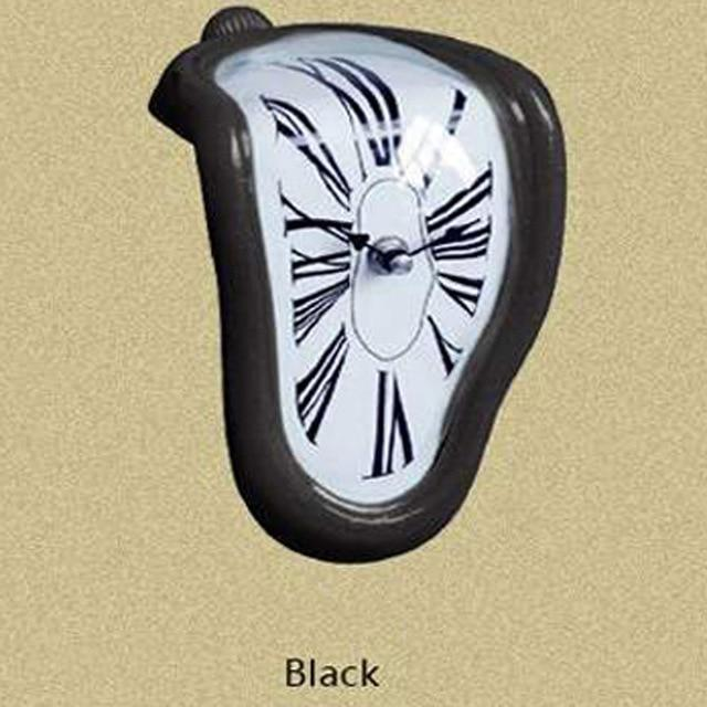 Clock in the style of works by Salvador Dali Hopikas Black