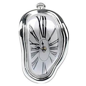 Clock in the style of works by Salvador Dali Hopikas Silver