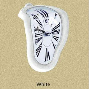 Clock in the style of works by Salvador Dali Hopikas White