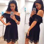 Load image into Gallery viewer, Cotton Lace Dress Hopikas Black S