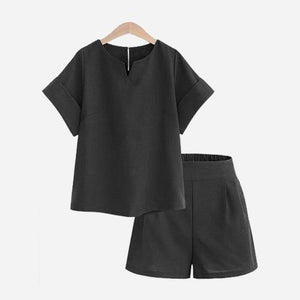 Crop Top and Shorts Hopikas Black XL