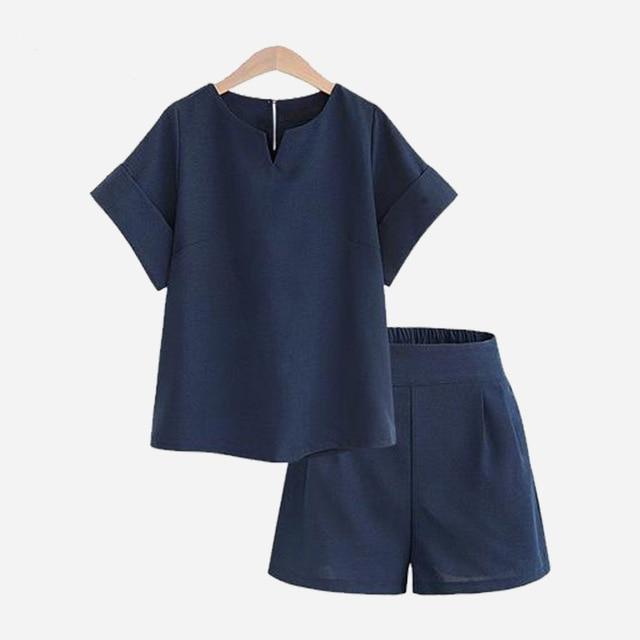 Crop Top and Shorts Hopikas Dark blue XL