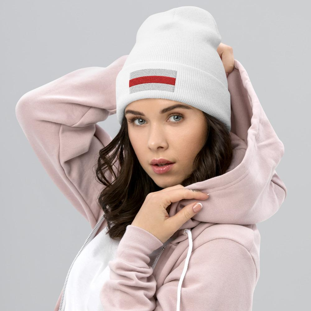 Cuffed Beanie Flag of Belarus Hopikas White