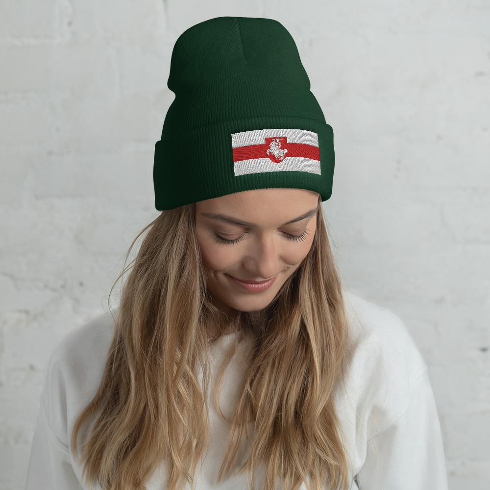 "Cuffed Beanie Flag of Belarus with coat of arms ""Chase"" Hopikas Spruce"