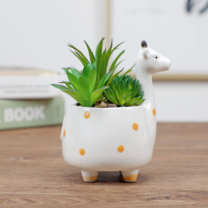 Cute Animal Flower Pot Ceramic Vase Hopikas