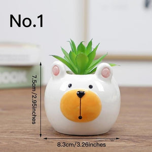 Cute Animal Flower Pot Ceramic Vase Hopikas No.1