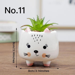 Cute Animal Flower Pot Ceramic Vase Hopikas No.11