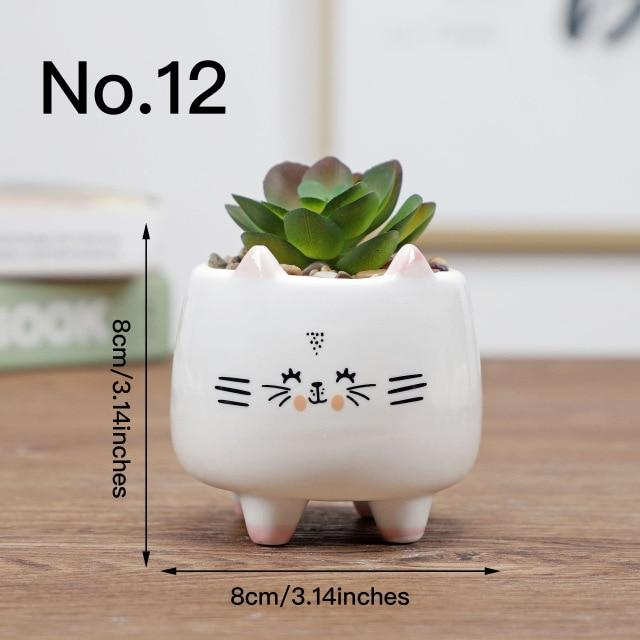 Cute Animal Flower Pot Ceramic Vase Hopikas No.12