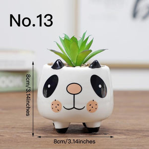Cute Animal Flower Pot Ceramic Vase Hopikas No.13