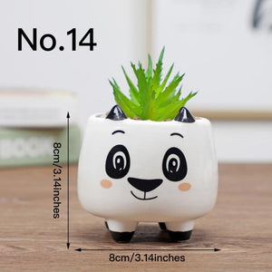 Cute Animal Flower Pot Ceramic Vase Hopikas No.14