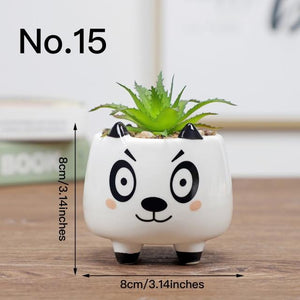 Cute Animal Flower Pot Ceramic Vase Hopikas No.15