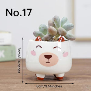 Cute Animal Flower Pot Ceramic Vase Hopikas No.17