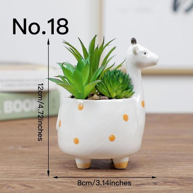 Cute Animal Flower Pot Ceramic Vase Hopikas No.18