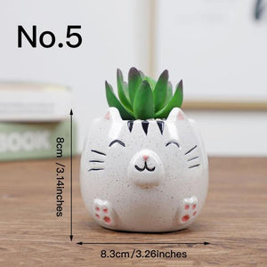 Cute Animal Flower Pot Ceramic Vase Hopikas No.5