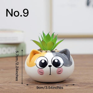 Cute Animal Flower Pot Ceramic Vase Hopikas No.9
