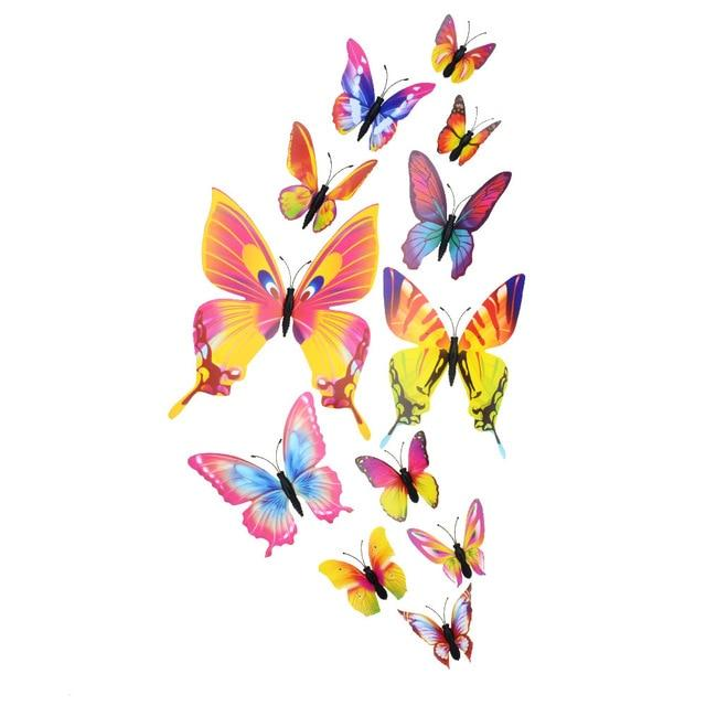 Cute Butterflies Wall stickers art Decals Home Decoration Hopikas Colorful