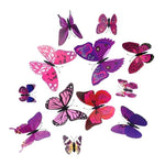 Load image into Gallery viewer, Cute Butterflies Wall stickers art Decals Home Decoration Hopikas Purple-2