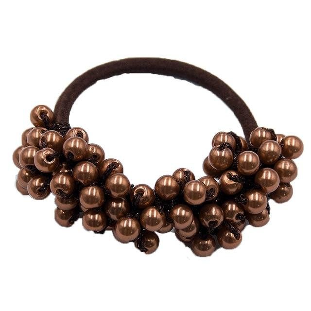 Elastic Pearl Hair Ties Hair Ties Hopikas brown