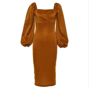Elegant dress Hopikas brown M