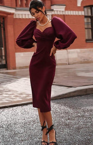 Elegant dress Hopikas Wine red S