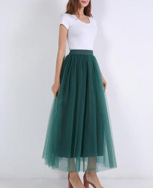 Elegant tutu skirt Hopikas dark green One Size