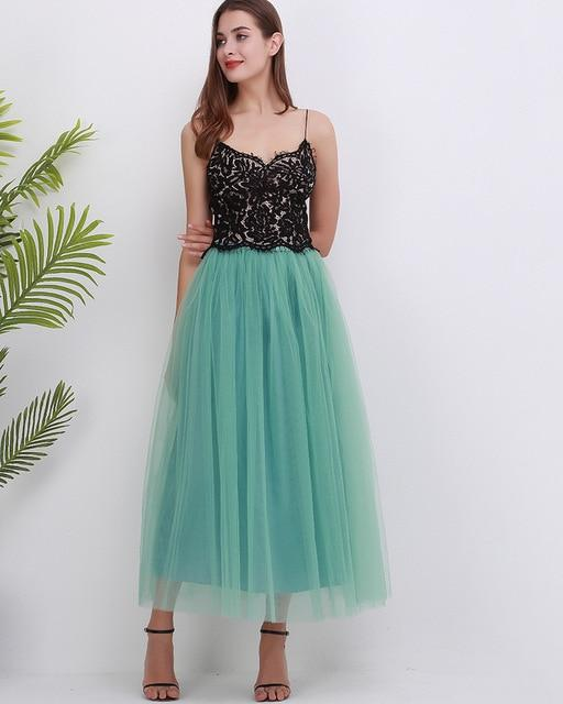 Elegant tutu skirt Hopikas light green One Size