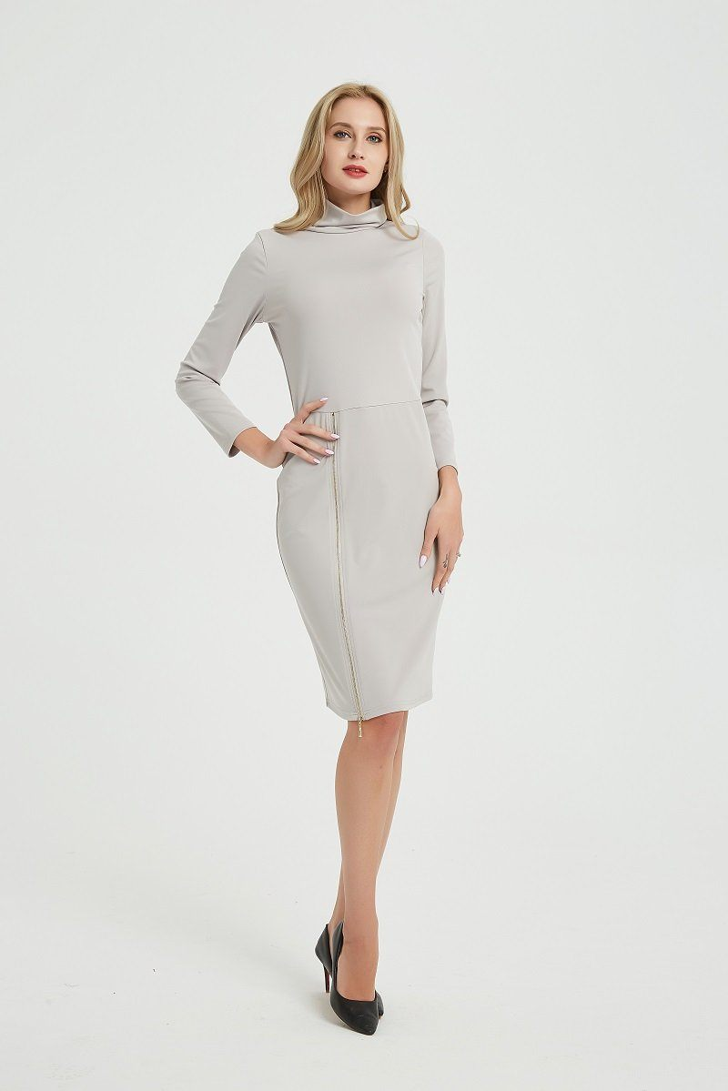 Elegant Zipper Dress Hopikas