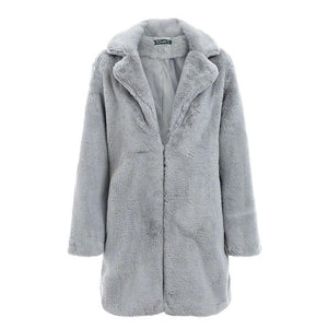 Faux Fur Coat Hopikas Gray S