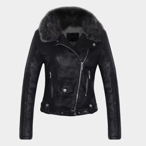 Faux Leather Jacket Hopikas