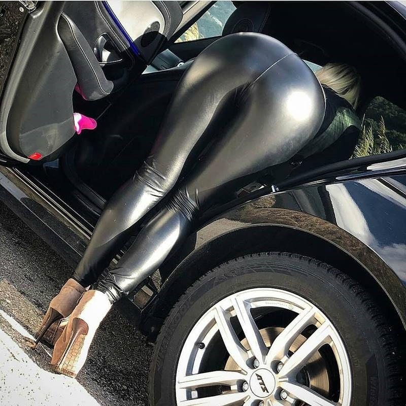 Faux Leather Leggings Hopikas