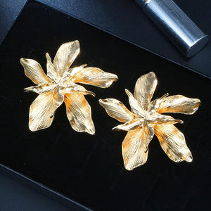Flower Dangle Earrings Hopikas