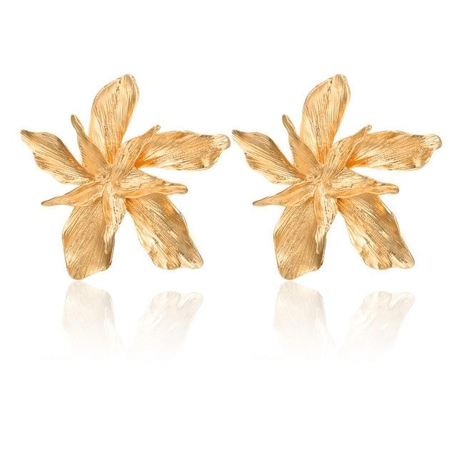 Flower Dangle Earrings Hopikas gold