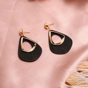 Geometric Earring Hopikas Black 2