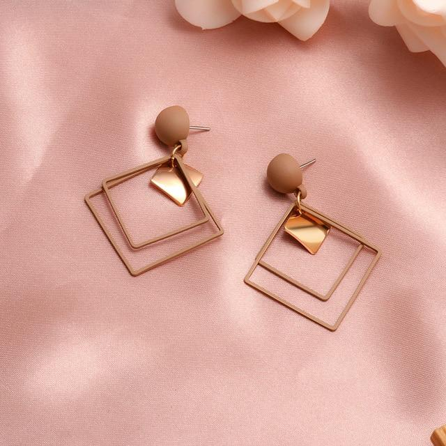 Geometric Earring Hopikas Brown 1