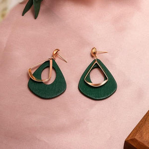 Geometric Earring Hopikas Green 2