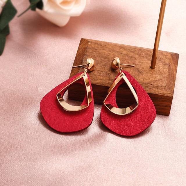 Geometric Earring Hopikas Red 2