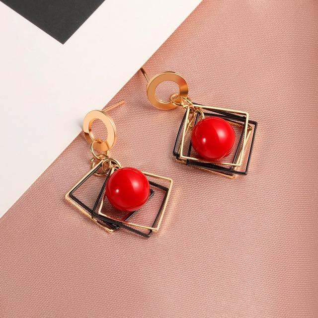 Geometric Earring Hopikas Red 4