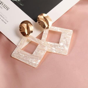 Geometric Earring Hopikas White 3