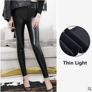 High Waist Leather Leggings for Women Hopikas Thin Light XXL