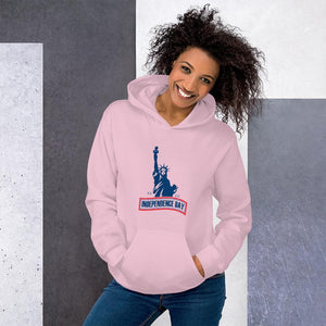 Hoodie Independence Day The Statue of Liberty Hopikas Light Pink S