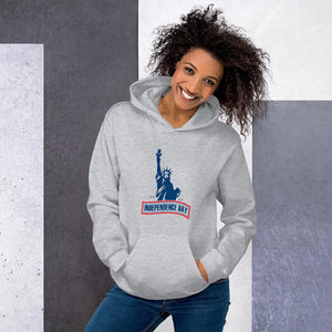 Hoodie Independence Day The Statue of Liberty Hopikas Sport Grey S