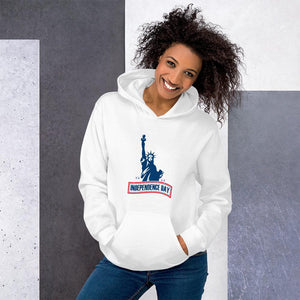 Hoodie Independence Day The Statue of Liberty Hopikas White S