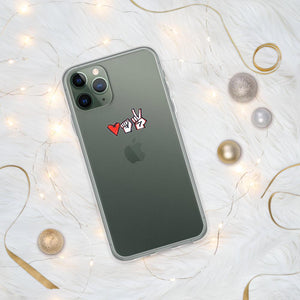 "iPhone Case with a symbol of protest in Belarus Fist, heart and ""victory"" Hopikas iPhone 11 Pro"