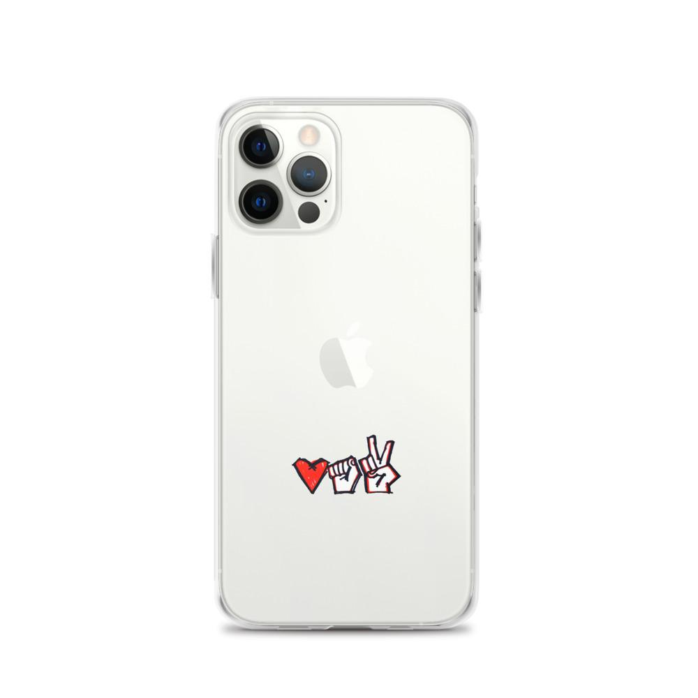 "iPhone Case with a symbol of protest in Belarus Fist, heart and ""victory"" Hopikas iPhone 12 Pro"