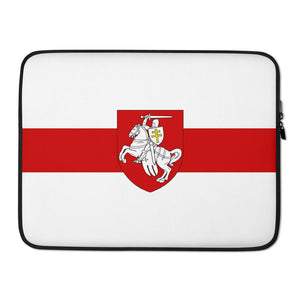 "Laptop Sleeve Flag of Belarus with coat of arms ""Chase"" Hopikas 15 in"